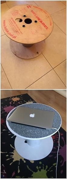 stolik ze szpuli