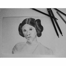 My drawing of Princess Leia