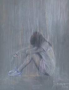 SAD RAIN Drawing by jovica kostic