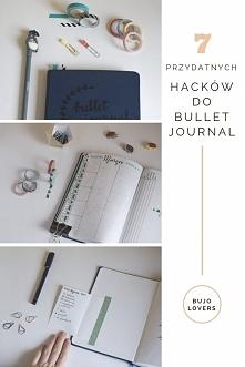 Przydatne hacki do bullet journal. Małe praktyczne porady do Twojego bujo.