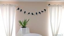 Girlanda z papierowych ptaszków :-)