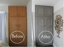 Przemiana szafy w stylu prowansalskim. Projekt salonu w stylu prowansalskim. ...