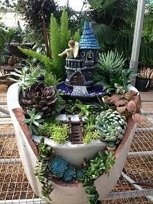 Twój malutki, własny zamek w mini ogrodzie w doniczce! Tu jest Twoja i moja inspiracja :3