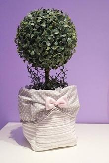 tekstylna osłonka na doniczkę, więcej info na priv: joyfulworks4you@gmail.com