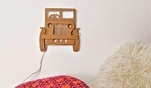 Nocna lampka na ścianę w ks...