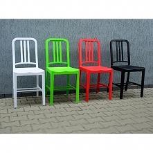 Plastikowe krzesła Hugo