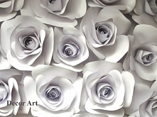 papierowe róże