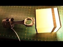 DIY / Jak zrobić LAMPKA NOCNA TŁOK Z KORBOWODEM