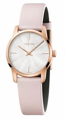 Calvin Klein K2G236X6 damski subtelny zegarek z jasną tarczą, złoconą kopertą...