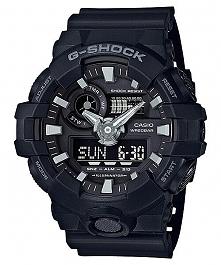 Casio GA-700-1BER sportowy męski zegarek G-shock w kolorze czarnym, wielofunkcyjny, odporny na wstrząsy, wodoodporny, idealny dla osób aktywnych :)