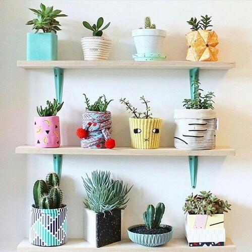 Plants are friends. To zdanie jest zawsze moją myślą przewodnią. Kocham tak udekorowane doniczki. Dodają uroku. Totalnie mój styl!
