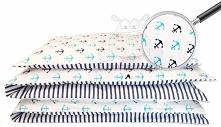 Marynarska pościel dla niemowlaków 100x135 cm z kolekcji Be baby