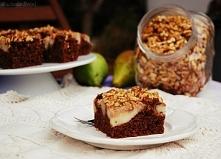 Ciasto czekoladowe z gruszkami i orzechami