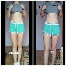Widać chociaż malenką różnicę? Ja chyba widzę więcej mięśnia, ale nie jestem ...