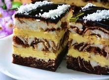 Ciasto łaciate z masą serni...
