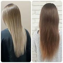 Włosy PO (sombre) i włosy PRZED - moje. :)