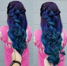 beatufull hair blue denim