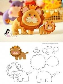 Filcowy lew