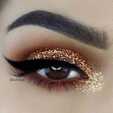 makijaz z brokatem