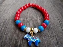 Bransoletka koralikowa z konikiem :) Biżuteria by Tuli :) Zapraszam :) facebo...