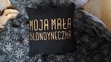 Poduszka z własnym napisem. Handmade. paulina32174@gmail.com