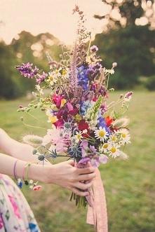 Uwielbiam zbierać kwiaty a ...
