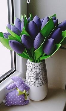 Bawełniane tulipany diy