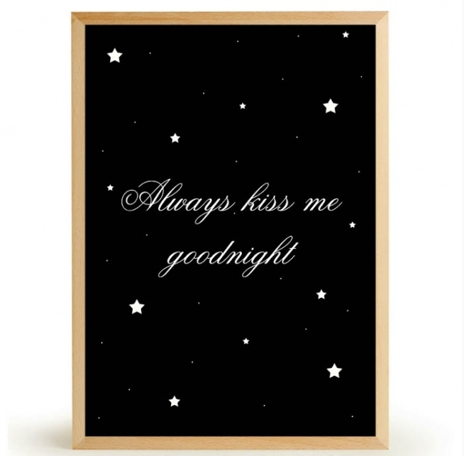 Plakat ALWAYS KISS ME GOODNIGHT