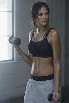 bielizna stworzona dla kobiet kochających sport, usztywniony biustonosz, gwar...