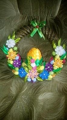 stroik na drzwi Wielkanoc
