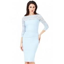 Elegancka błękitna sukienka...