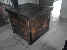 Drewniana skrzynia mojego autorstwa,wyraz jednej z moich pasji