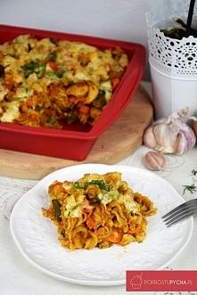 Makaronowa zapiekanka z warzywami :)