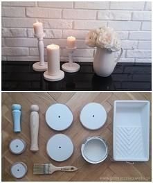 świecznik DIY - niskim kosztem