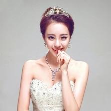 Biale Biżuteria Ślubna Tiar...