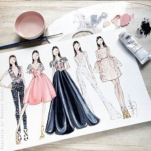 Kiedyś moim hobby było projektowanie ubrań. Teraz został mi po nim jedynie szkicownik pełen szkiców. Może kiedyś uda mi się je wykorzystać. :)