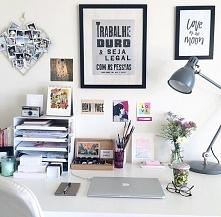 Świetny pomysł na organizację rzeczy na biurku.
