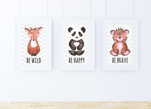 3 Plakaty Dla Dzieci To Be A4 Na Zwierzęta Zszywkapl