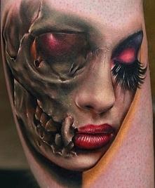 tatuaż twarz