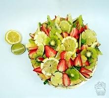 Tort cytrynowy oblany karmelem :)