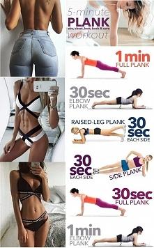 Od dziś przez miesiąc do moich treningów dodaję 5minut planka. Jestem ciekawa efektów :) podejmujecie wyzwanie ze mną?