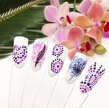 Zabawa we wzorki z nowymi kolorami Flowersense z Neonail. :)