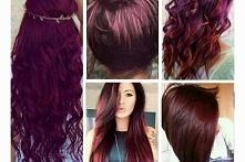 Bordowe włosy - Kliknij w z...