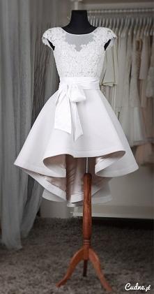 krótka wersja sukni ślubnej :)