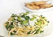 Spaghetti z bobem, pietrusz...
