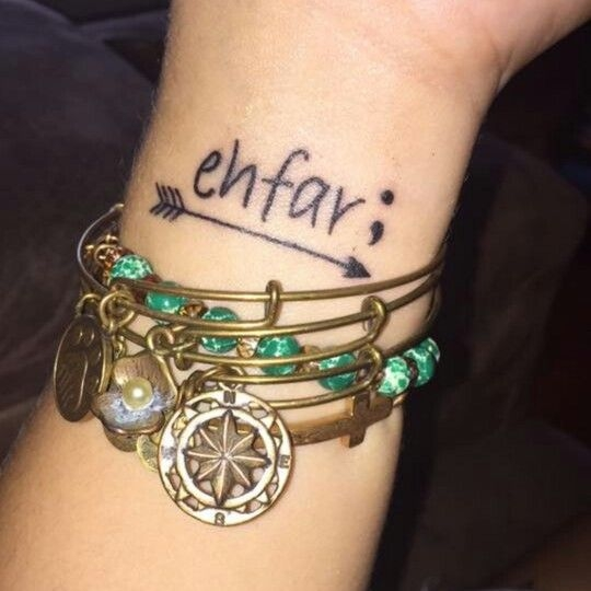 Ehfar Means Everything Happens For A Reason The Arrow To