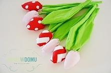 Tulipany z materiału DIY