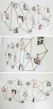 kolejny pomysł na oryginalne umieszczenie zdjęć na ścianie.
