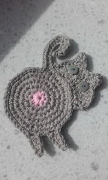 DIY podkladka pod kubek #DIY #kot #crochet #prezent #zakupy #ozdoba #dekoracja #kawa