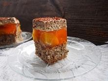 Ciasto chałwowo brzoskwiniowe